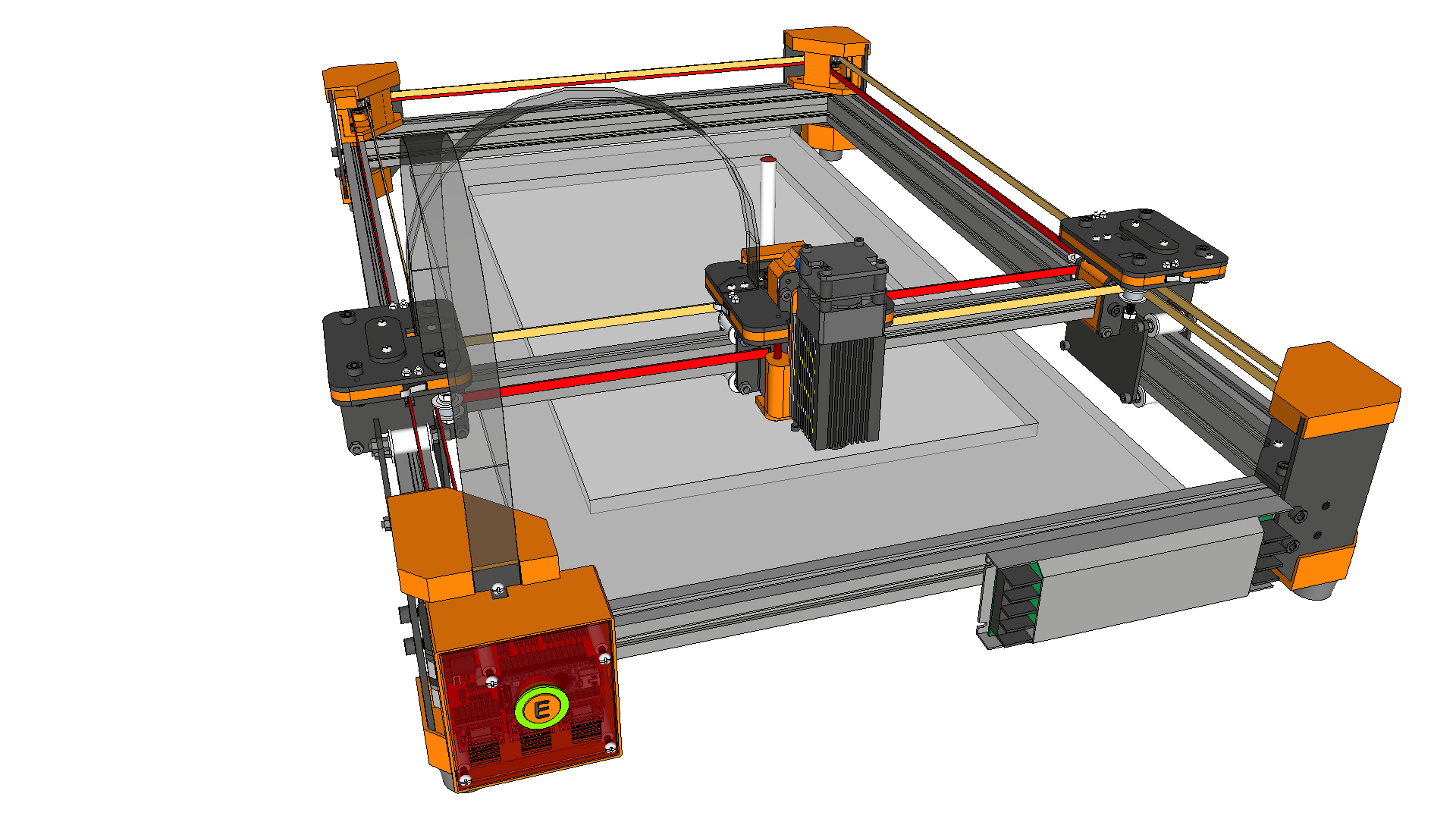 drawMachine eX (CoreXY) - Laser Cutter and Engraver - Design