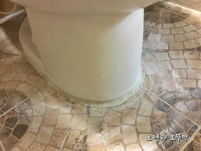 화장실 좌변기 시멘트 줄눈 셀프 보수하기8