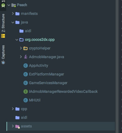 cocos2d-x 3.16 에서 구글 인앱빌링 AIDL 추가