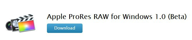 Apple ProRes RAW for windows 1.0 (Beta) 애플 윈도오용 코덱  ProRes RAW