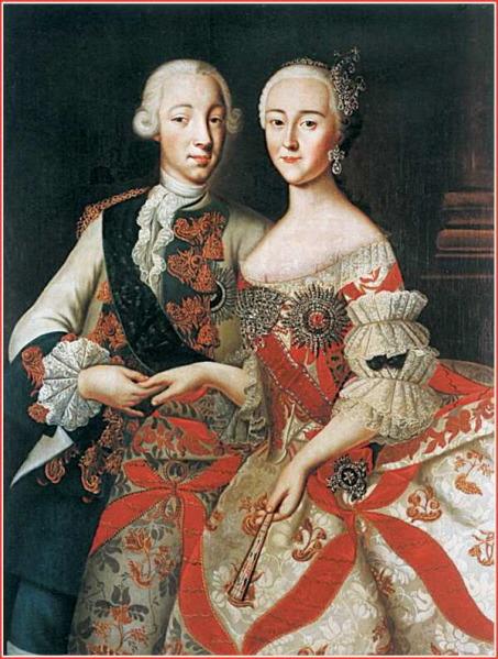 Peter III and Catherine II the great