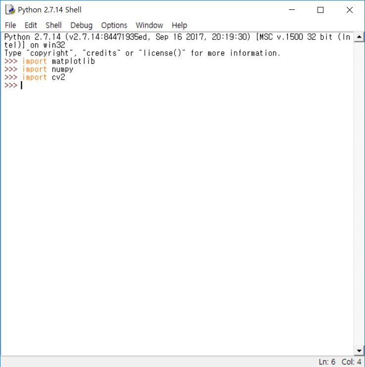 python opencv Env on Windows :: 3D Graphic Technical Artist