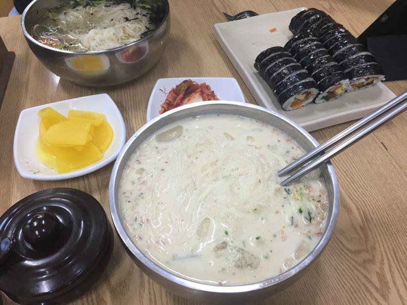 수영김밥 냉콩국수