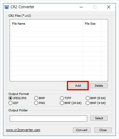 cr2file converter