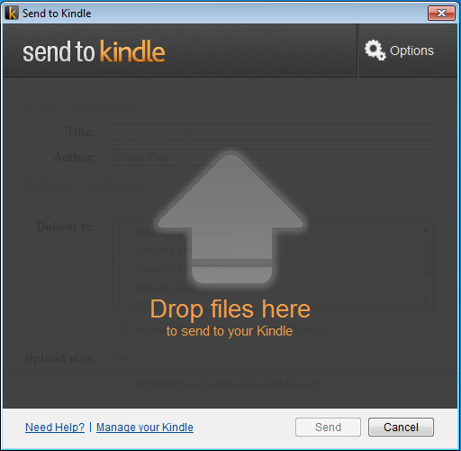 PDF 파일을 킨들 Kindle로 보내는 요령