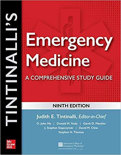 Tintinalli's Emergency Medicine: A Comprehensive Study Guide,9/e[성보의학서적 응급의학 신간의학도서 목록]