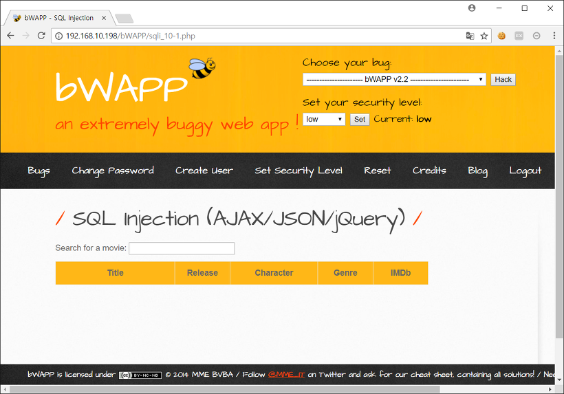 SQL Injection (AJAX/JSON/jQuery)