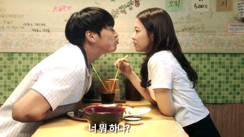 사진: 고교시절의 두 사람. 박보영의 가정사정으로 헤어진다