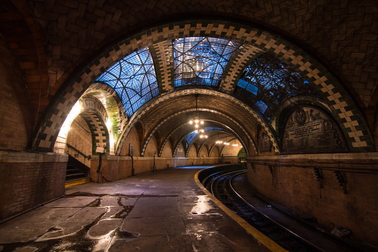 8. abandoned New York City Hall Station