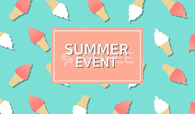 여름 이벤트 세일 팝업 배너 배경