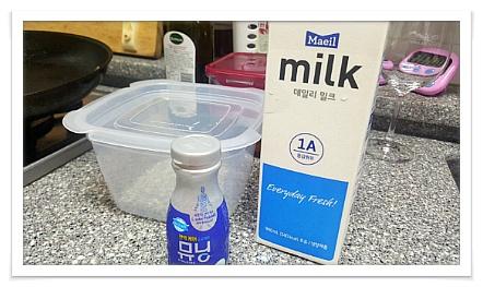 요거트와 우유 이미지