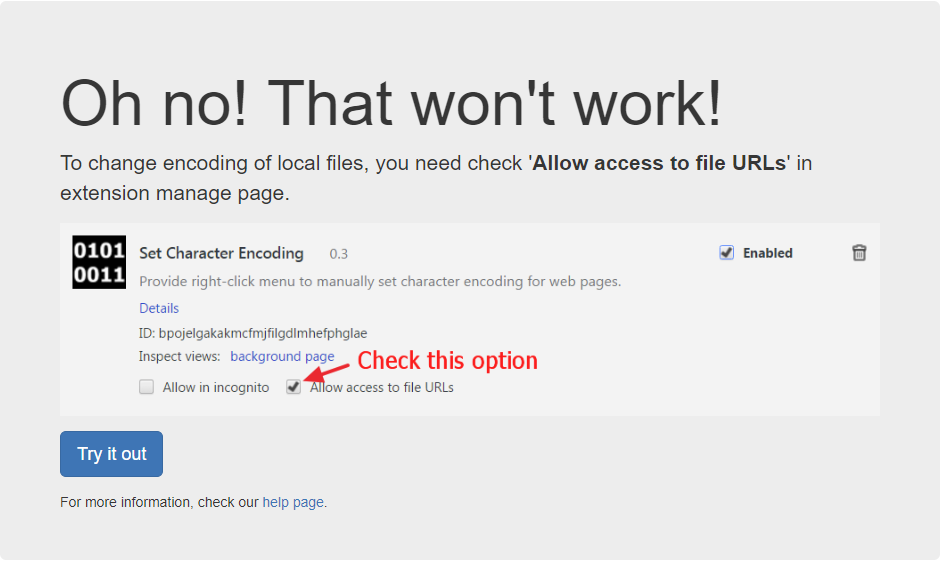 Code Dragon :: Set Character Encoding - Oh no! That won't