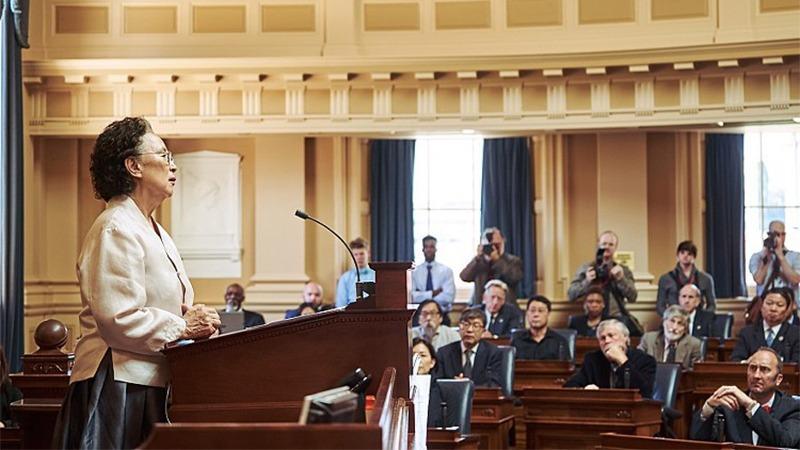 사진: 미국 버지니아 주의 하원의회. 영화를 실제로 의회에서 촬영했다.