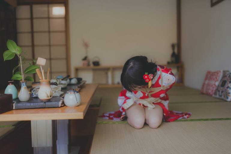 기모노 입은 Yuzuki 사진