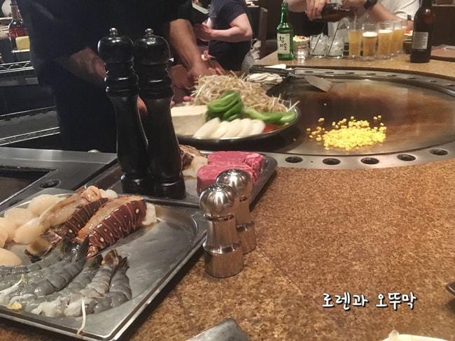 괌맛집 '조이너스 데판야끼' 맛있는 불쇼~5