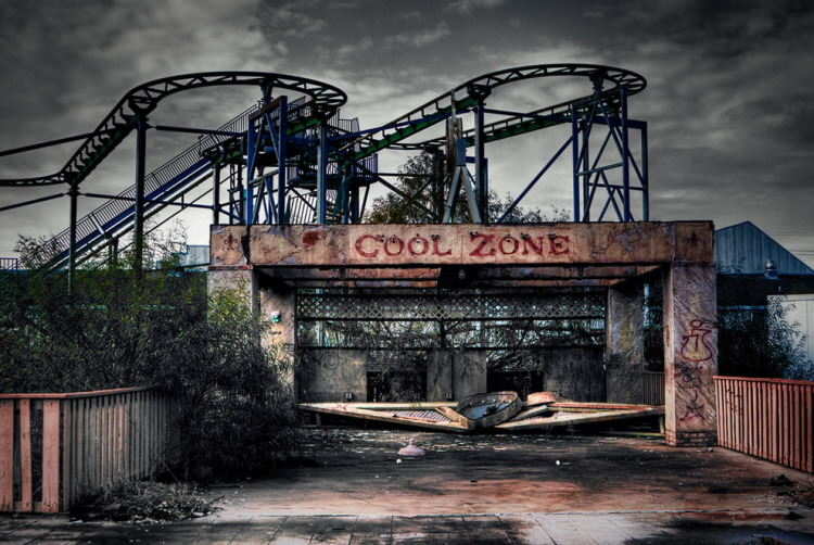 19. abandoned Six Flags New Orleans