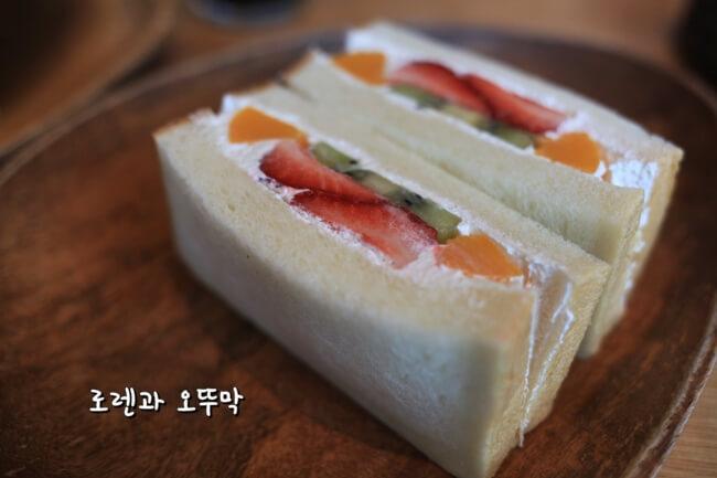 하카타역 무츠카도 카페의 유명한 샌드위치6