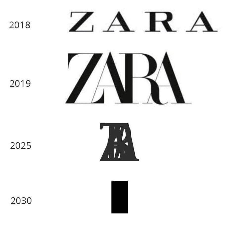 자라(ZARA) 새 로고 풍자 이미지