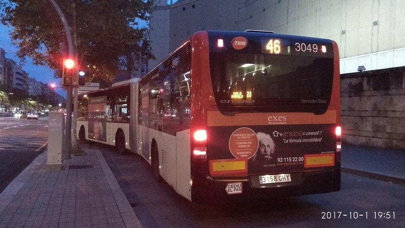 바르셀로나 공항에서 시내까지 가는 방법 - 46번 일반버스