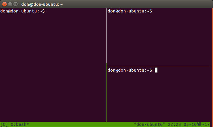 tmux horizontally split again via <CTRL-B>