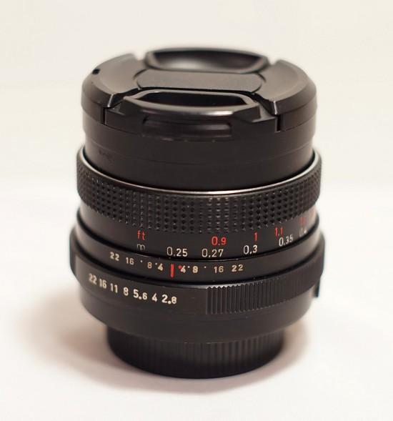펜타콘 29mm f2.8 레드 MC 렌즈