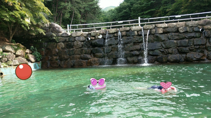 성주봉자연휴양림 물놀이장 깊은물