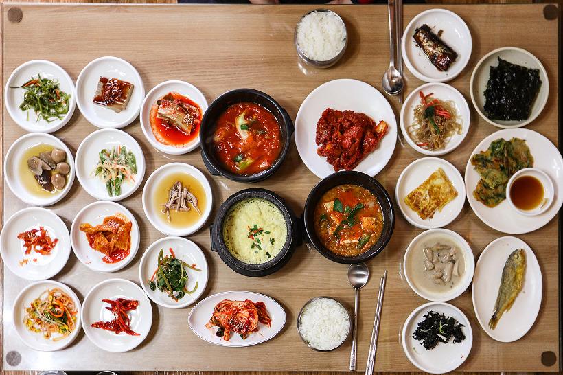 한국식당 - 탑뷰