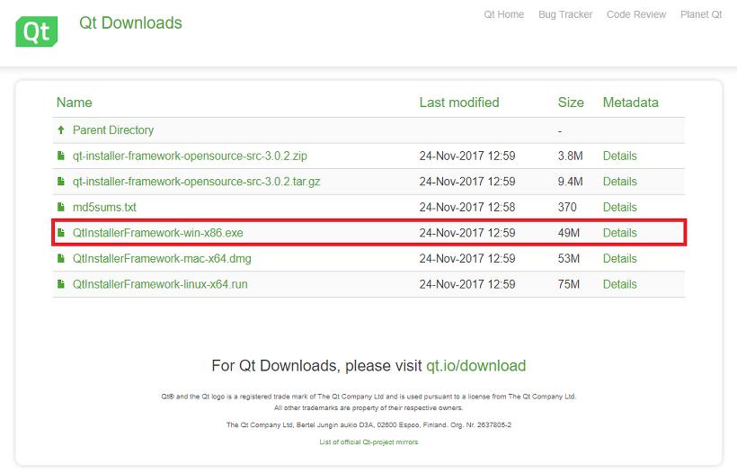 qt framework download