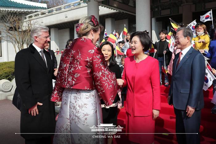 문재인 대통령님 내외, 벨기에 국왕 국빈방한 공식 환영식  사진
