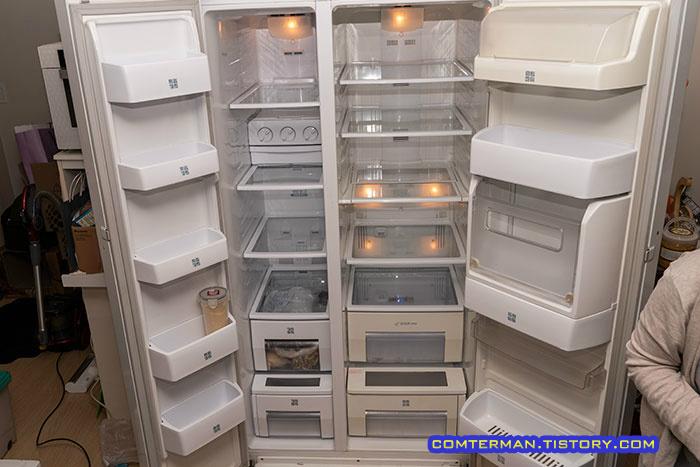 냉장고 청소 완료