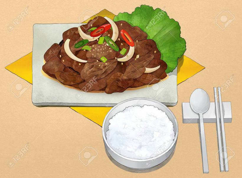 한국 음식 일러스트