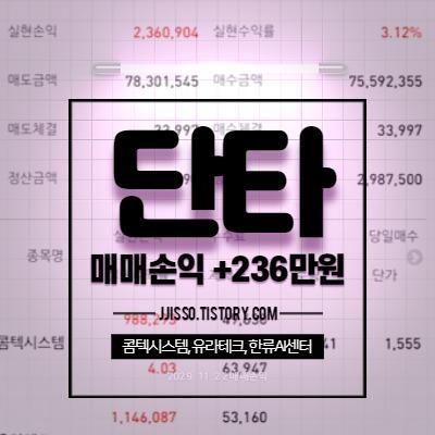 단타매매수익 236만원