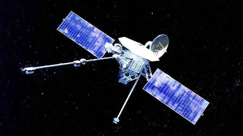 사진: 1973년 발사된 수성 탐사선 매리너10호의 모습