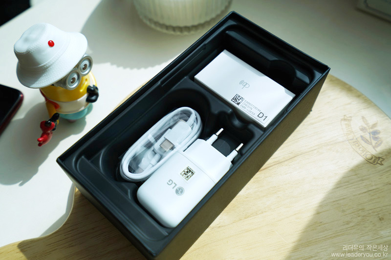 LG V40 구성품 포장