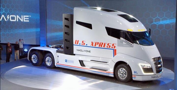 미국 NIKOLA ONE 수소 트럭