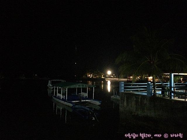 필리핀 세부 밤바다