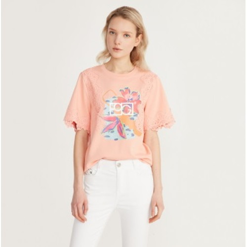 에고이스트 소매 레이스 티셔츠 (EL1CH261)