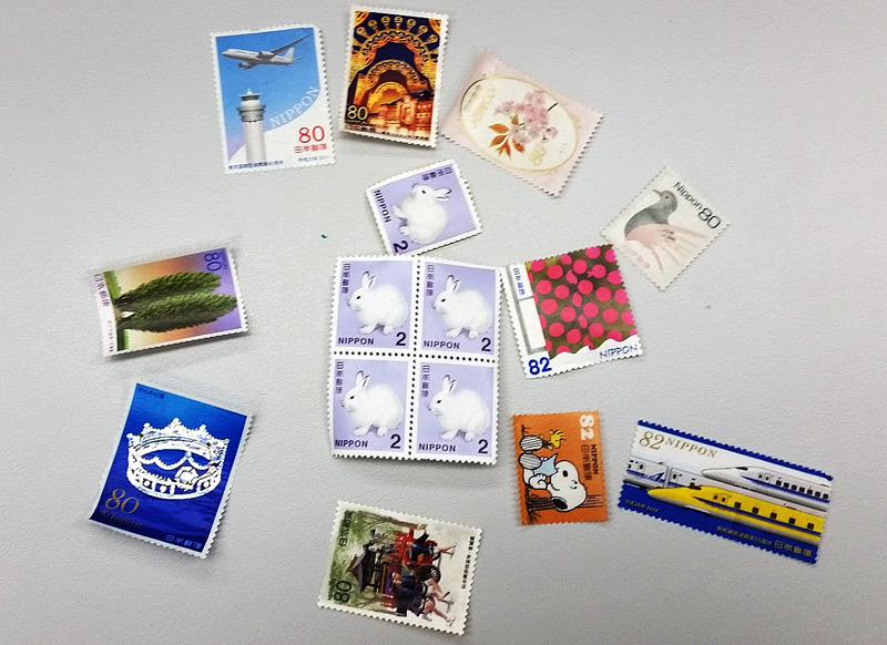 떼어낸 우표