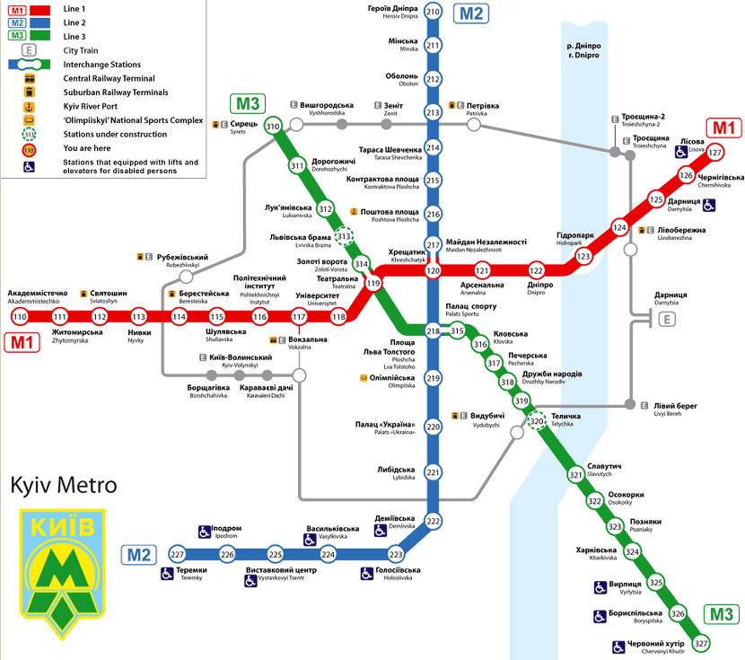Kiev Subway Map