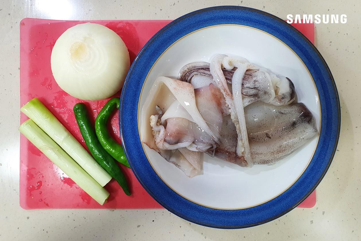 오징어 볶음 만들기