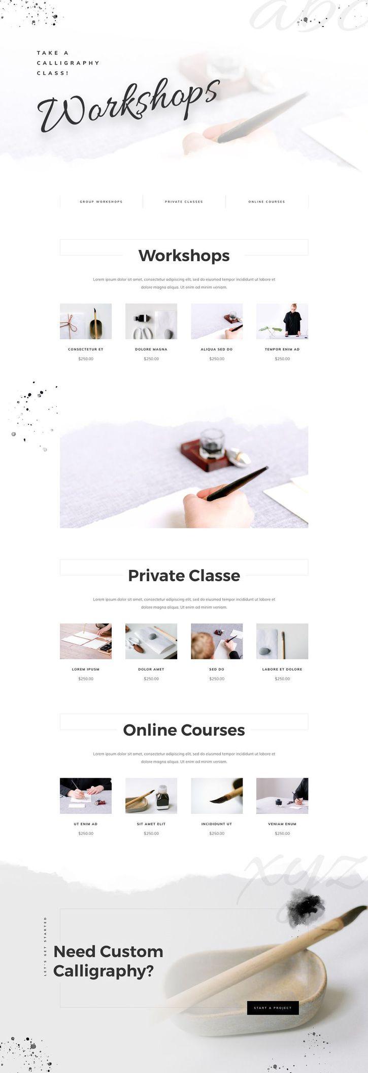 Classes(클래스) 페이지 디자인