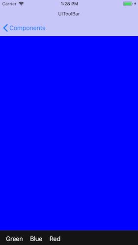 iOS UIKit in Swift 4] UIToolBar 사용하기
