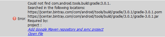 Code Dragon :: Could not find com android tools build:gradle:x x x