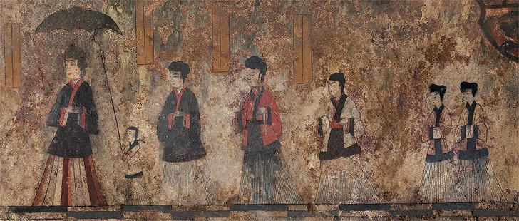 수산리 벽화고분, 문화재 여주인