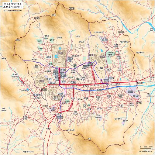 조선 후기 한성부(서울) 지도