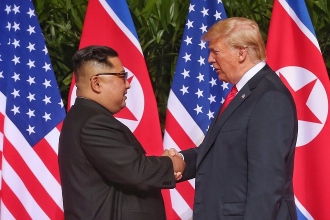 2018년 6월 12일 북미정상회담 개최 세기의 만남