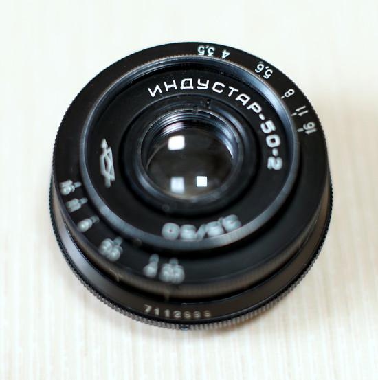 인더스타 50mm f3.5 렌즈 - m42 마운트