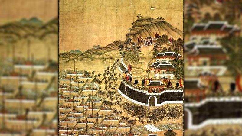 사진: 문화재청의 임진왜란 전투 그림.