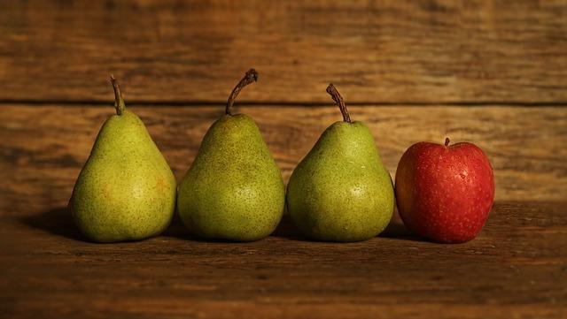 주의력 결핍 과잉 행동 장애 (ADHD)증상 완화에 좋은 식품  사과 배