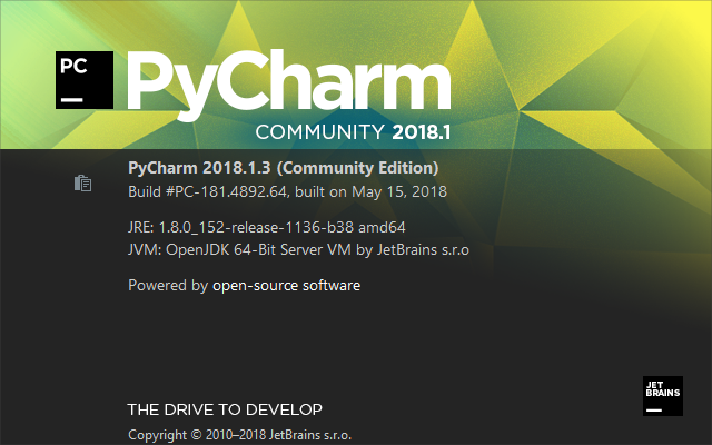 pycharm about